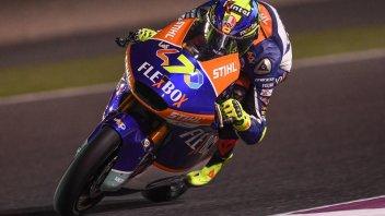 Moto2: Baldassarri 10 e lode, regola in volata Luthi e vince in Qatar