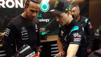 MotoGP: Rossi-Hamilton: l'incontro prima del warm-up