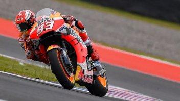 MotoGP: A Termas de Rio Hondo Marquez si prende anche il warm up