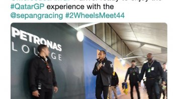 News: Hamilton approda in Qatar per studiare la MotoGP