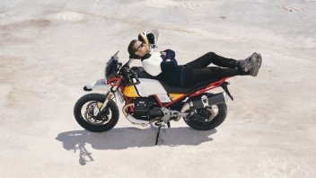 Cinema: Ewan McGregor e l'amore per la Moto Guzzi
