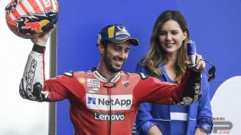MotoGP: Dovizioso with Rossi and Capirossi on the podium... of old men