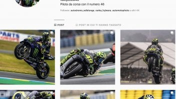 MotoGP: Rossi in the slipstream of Fedez on Instagram, Chiara Ferragni still far ahead