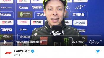 MotoGP: Valentino Rossi omaggia Kimi Raikkonen per i 300 Gran Premi in F.1
