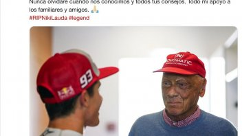 News: Marquez says goodbye to Lauda: I will never forget your advice