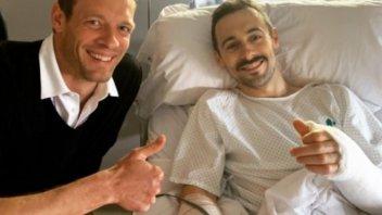 SBK: Laverty: operazione riuscita, ma i tempi di recupero preoccupano