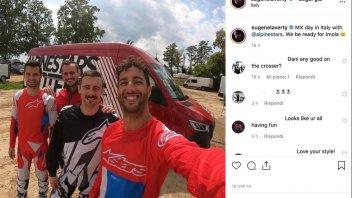 SBK: Laverty e Ricciardo compagni di allenamento sul cross