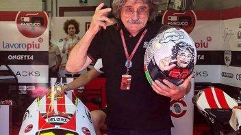 Moto3: Paolo Simoncelli diventa... un casco per Suzuki