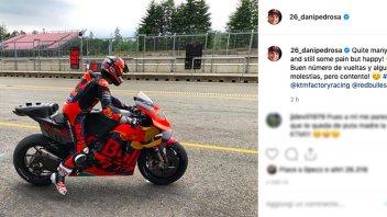 """MotoGP: Dani Pedrosa a Brno sulla KTM: """"Un po' di dolore, ma sono felice!"""""""