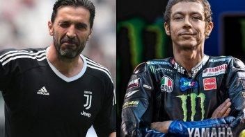 MotoGP: Rossi e Buffon, il lungo addio di due campioni che amano lo sport