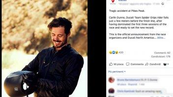 News Prodotto: Dunne è morto alla Pikes Peak: tragico incidente per il pilota Ducati