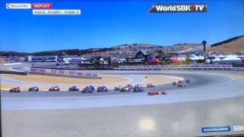 SBK: Contatto con Razgatlıoğlu: Bautista di nuovo in terra in Superpole Race!