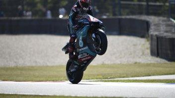 MotoGP: FP2 Brno, Quartararo batte Marquez, Rossi rompe un motore ma va in Q2