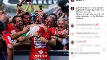 MotoGP: L'addio di Petrucci e Melandri a Luca Semprini, per entrambi un amico