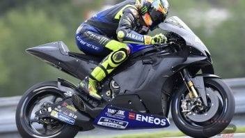 "MotoGP: Rossi: ""The new engine? It gives a little something, but it needs something more.""."""