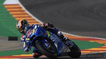 MotoGP: FP3 Aragon, piove al Motorland: Rins il migliore, Marquez non gira