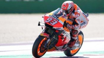 MotoGP: Riscossa Honda: Marquez 1° nel warmup, 10° Rossi