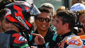 "MotoGP: Quartararo: ""Finally a duel with Marquez. His engine is an airplane."""