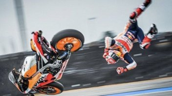 MotoGP: Data on Marquez's fall: an impact of 26.4 g with the asphalt