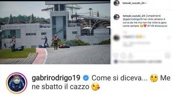 """Moto3: Rodrigo risponde a Suzuki: """"Come si diceva? Me ne sbatto il cazzo"""""""