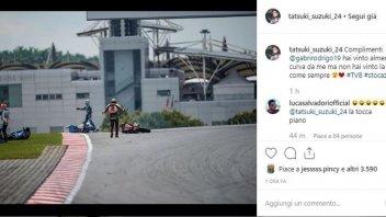 """Moto3: Suzuki: """"Bravo Rodrigo, hai vinto nei primi giri come sempre #stocazzo"""""""