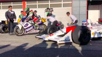 MotoGP: Honda Thanks Day 2019: Cal Crutchlow sulla NSR 500 di Lawson