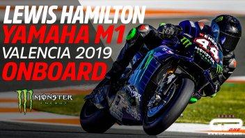 MotoGP: Onboard da urlo: Hamilton non scherza in sella alla M1 di Rossi!