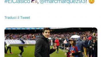 "MotoGP: Marc Marquez torna in campo… ma per ""El Clasico"""