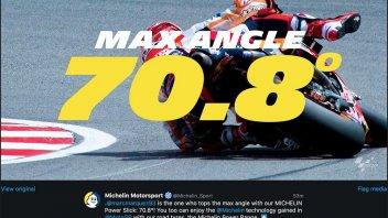 MotoGP: Marquez si fa beffe della fisica: record di piega con 70,8°