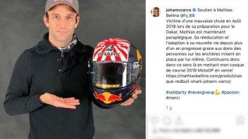 MotoGP: Johann Zarco mette all'asta un casco per aiutare Mathias Bellino