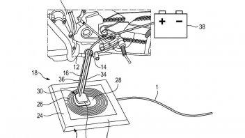 News Prodotto: BMW brevetta un sistema di ricarica wireless per le sue moto elettriche