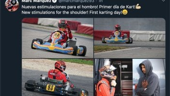 MotoGP: Marc Marquez tests his shoulder on the kart