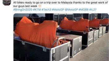 MotoGP: KTM impacchetta le KTM per Sepang