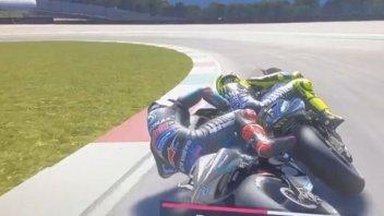 """MotoGP: Quartararo """"stende"""" Rossi alla Bucine... e si scusa con Norris"""