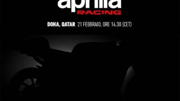 MotoGP: LIVE STREAMING. Iannone and Espargarò unveil the Aprilia 2020 in Qatar