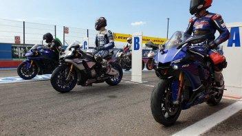 Prodotto - News: Yamaha: 10 anni con la Riding School di Pedersoli con Melandri e Haga