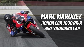 Moto - News: Marc Marquez in sella alla Honda CBR 1000 RR-R: un video 360 da urlo