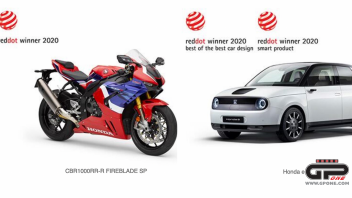 "Moto - News: Honda e & CBR 1000RR-R Fireblade won ""Red Dot: Best of the Best 2020"""