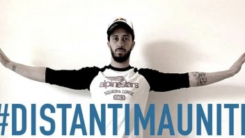 MotoGP: Andrea Dovizioso launches the hashtag #distantimauniti on facebook