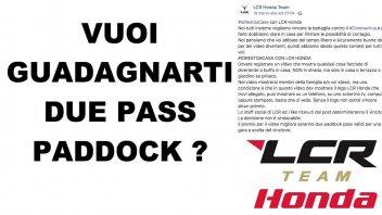 MotoGP: Concorso #iorestoacasa del Team LCR: in palio due Pass Paddock MotoGP