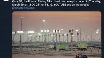 MotoGP: Il Coronavirus sposta la presentazione del team Ducati Pramac