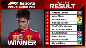 Auto - News: Formula 1 - Virtual Race: Ferrari e Leclerc dominano anche in Cina