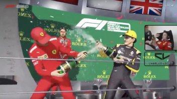 Auto - News: Formula 1. Leclerc e la Ferrari trionfano in Australia, ai videogiochi