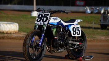 Moto - News: Tommy Hayden: a modern Flat Tracker built on a Yamaha MT-07 base
