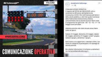 Moto - News: Vallelunga punta al 23 maggio per riaprire l'attività in pista