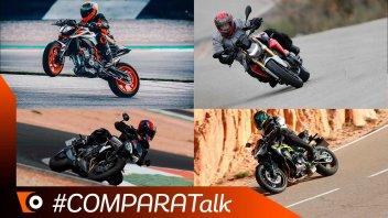Moto - Test: Comparativa naked medie 2020, le più potenti: F 900 R, Z900, Street Triple RS, 890 Duke R