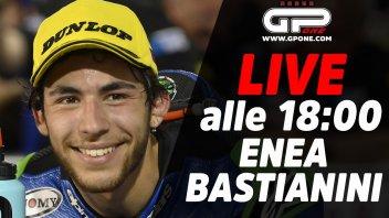 Moto2: LIVE - Enea Bastianini sarà ospite della diretta alle 18:00 su GPOne