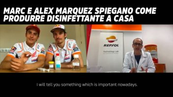 MotoGP: Marc e Alex Marquez spiegano come produrre disinfettante a casa