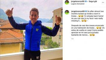 MotoGP: Jorge Lorenzo è tornato a casa a Lugano dopo due mesi in hotel a Dubai
