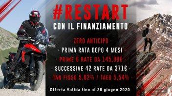 Moto - News: #RESTART con Suzuki: subito in moto, prima rata tra 4 mesi